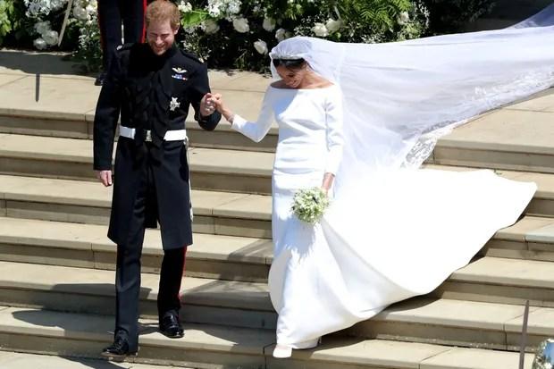 Meghan Markles Hochzeitskleid So schlicht wie zehn Striche  ZEITmagazin