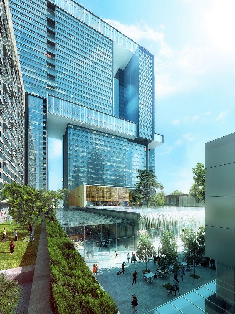 錢江新城中心,站立的西湖-住在杭州