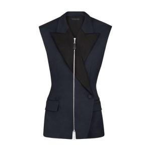 Sleeveless Zip-Up Blazer