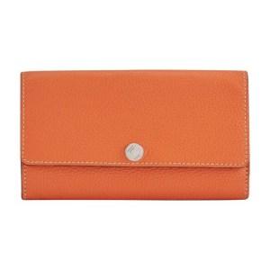 Wallet flap bull skin