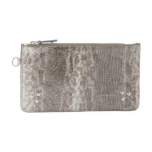 Popoche snakeskin clutch bag