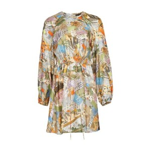Coco silk printed dress