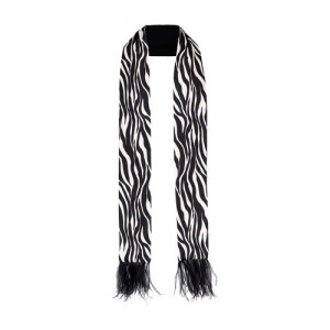 Talo Scarf In Silk With Feathers
