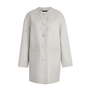 Boxy Crew Neck Cardigan Coat