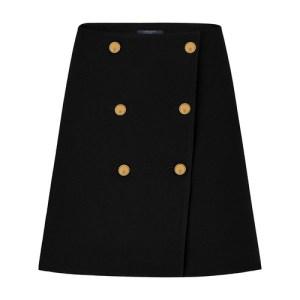 Wool And Silk Button Skirt