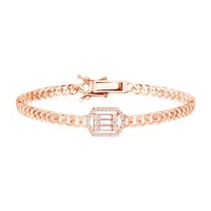 Link bracelet - baguette