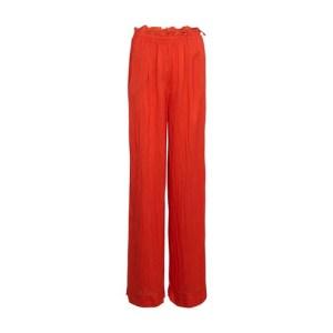habotai silk wide pants with bindings