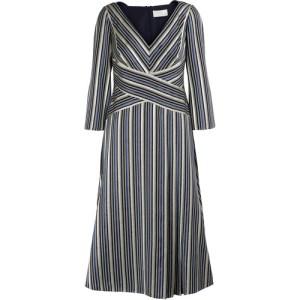 Lurex striped maxi dress