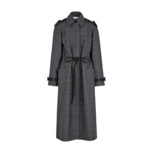 Grey wool trench coat