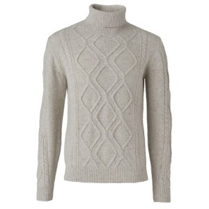 Donnegal Fisherman rollneck jumper
