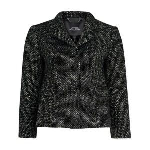 Tweed Shaped Jacket w Strass