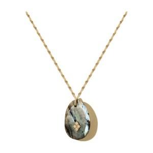 Gaia n°2 necklace labradorite