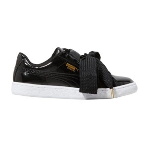 Heart patent leather sneakers