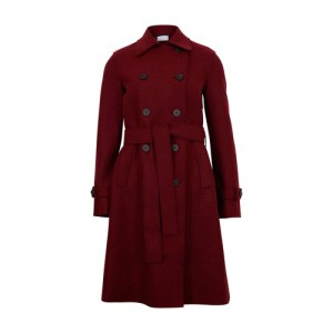 Pressed wool trench
