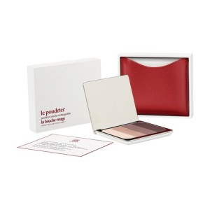 Red fine leather Aral eyeshadow set