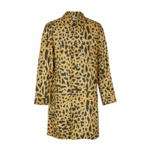 Animal printed long coat