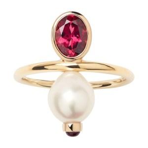 Perles précieuses Ring