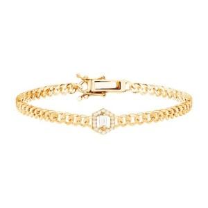 Link bracelet - small baguette