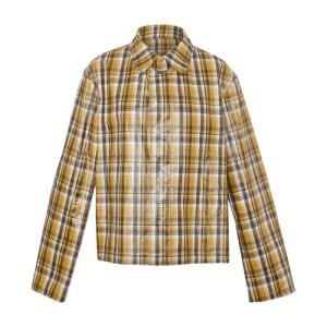 Checked oversized jacket