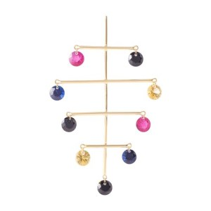 Single earring Mobile I color stones
