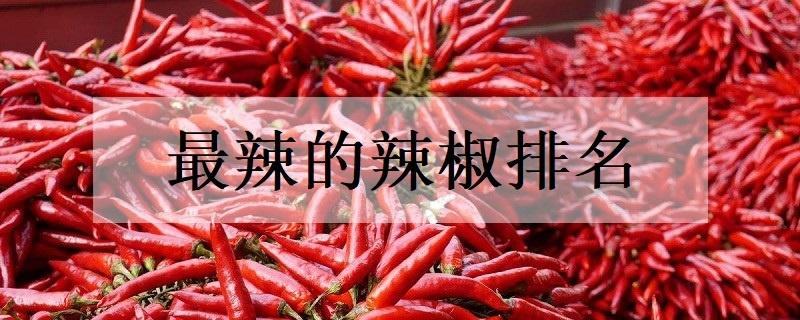 最辣的辣椒排名_植物博士