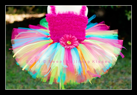 Rainbow Birthday Tutu - Customize tutu size, Great for Girls Dance 1st Birthdays Photos Dress up