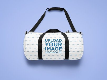 Free duffle bag psd psd to download. Placeit Mockup Of A Sublimated Duffle Bag Laid On A Solid Customizable Surface