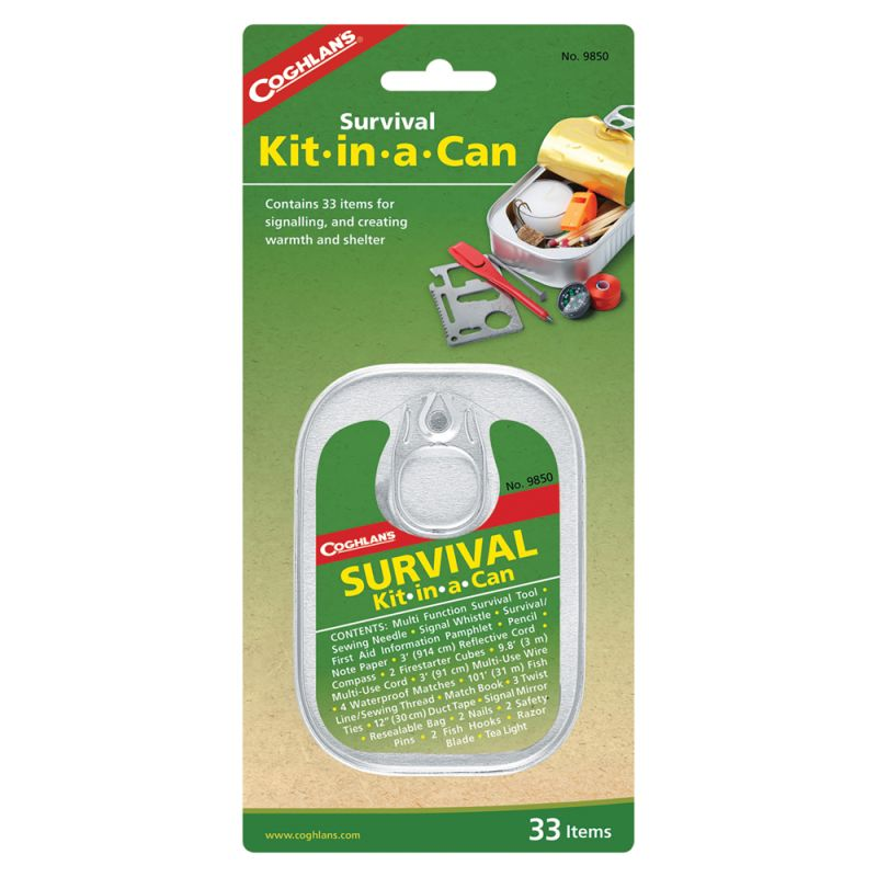 Coghlans #9850 Survival Kit-In-A-Can 救生罐