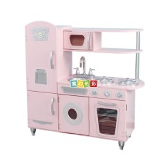 Wood Kitchen Playsets Design Rochester Ny 新款粉色儿童木制过家家厨房玩具带冰箱跟烤箱为一体的木制厨房 价格 新款粉色儿童木制过家家厨房玩具带冰箱跟烤箱为一体