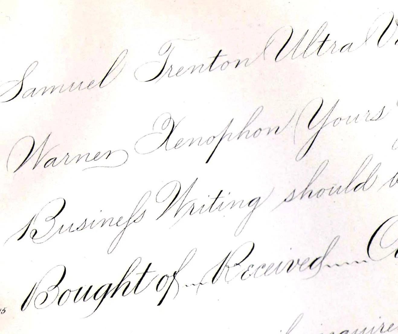 Palmer Method Ornamental Penmanship Victorian Calligraphy