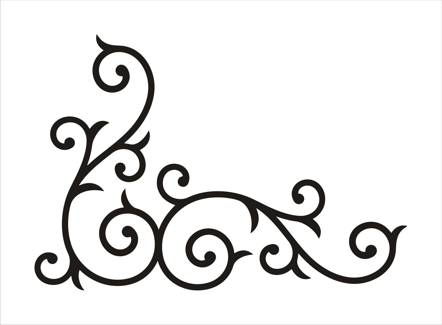 Wrought Iron Corner Swirl SMALL