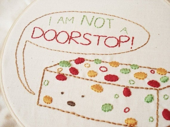 Frustrated Fruitcake - Holiday PDF Mini Embroidery Pattern