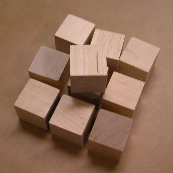 1.5 Unfinished Maple Wood Cubes 100 Blocks