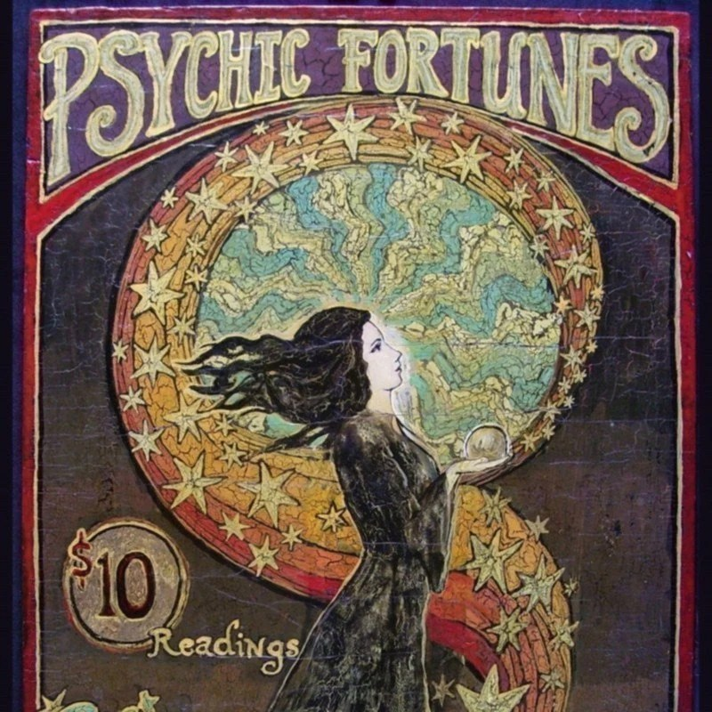 Psychic Fortunes Print Gypsy Circus Poster Art