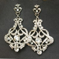 Crystal Chandelier Bridal Earrings Vintage Wedding Earrings