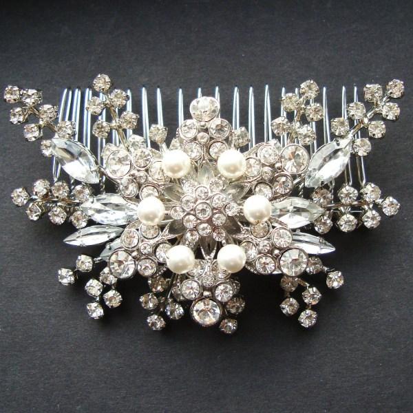 Pearl & Rhinestone Bridal Hair Accessories Vintage Style