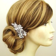 crystal bridal hair comb wedding