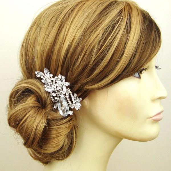 Crystal Bridal Hair Comb Wedding Vintage Style