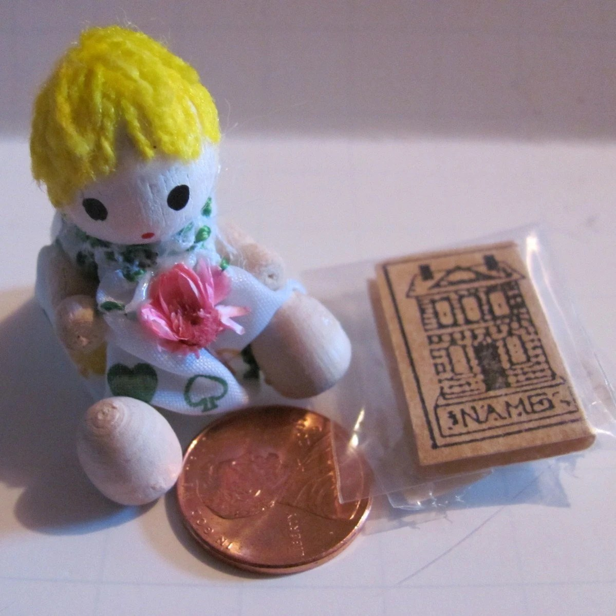 Minature Doll and Book - NewAgain