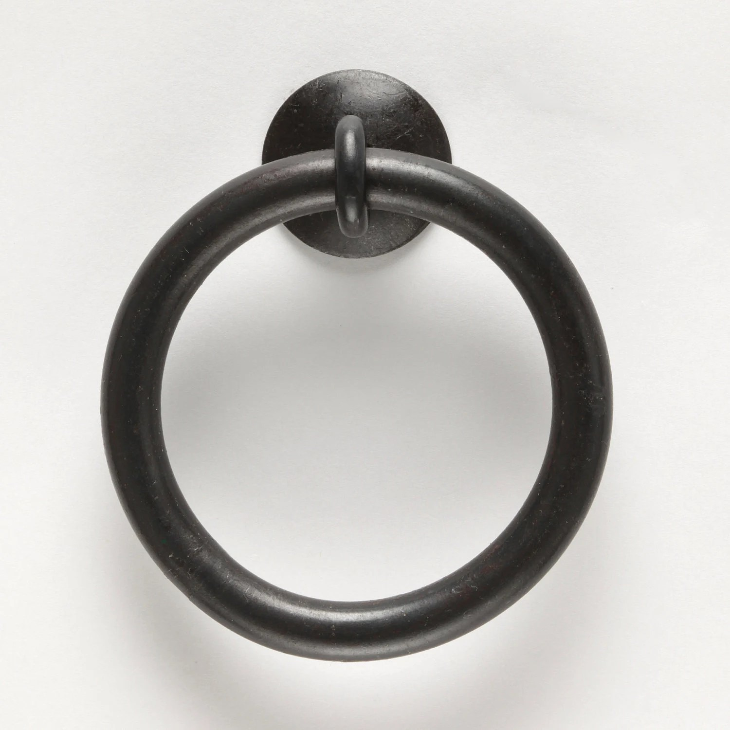 XL Thick Ring Pull Wrought Iron Kitchen Cabinet Hardware