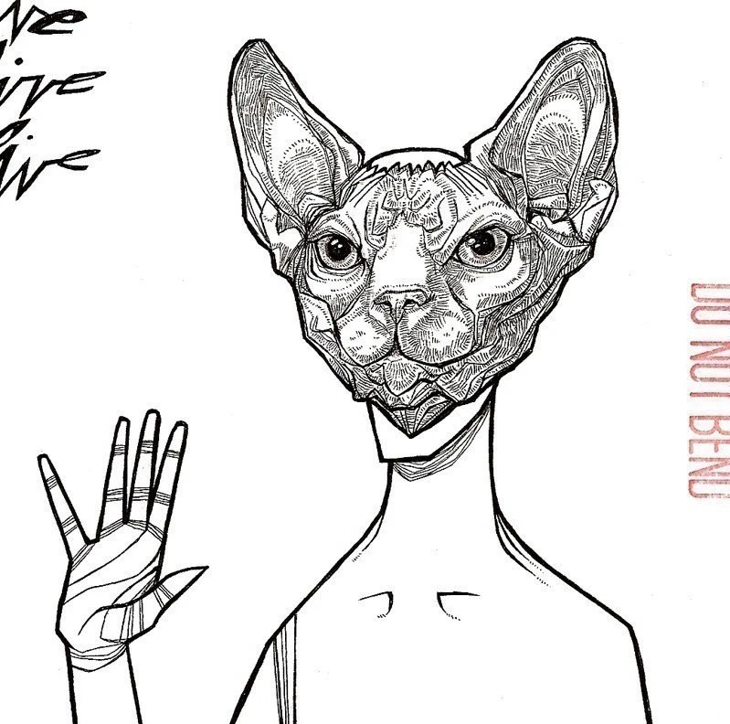Items similar to Sphynx Cat Mask two color cat pet animal