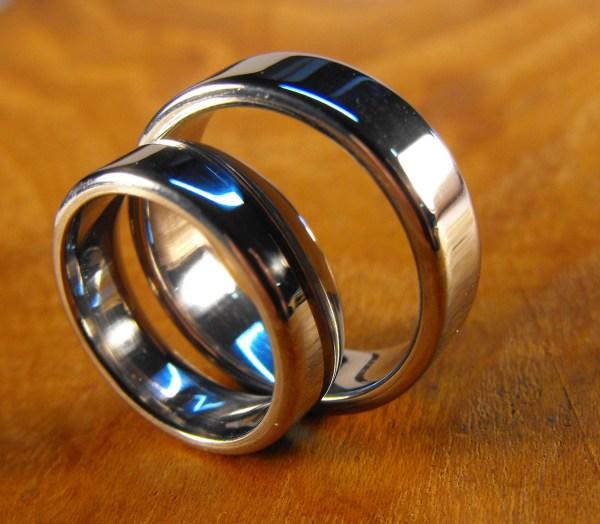 Wedding Rings Stainless Steel Ring Engraved Mens