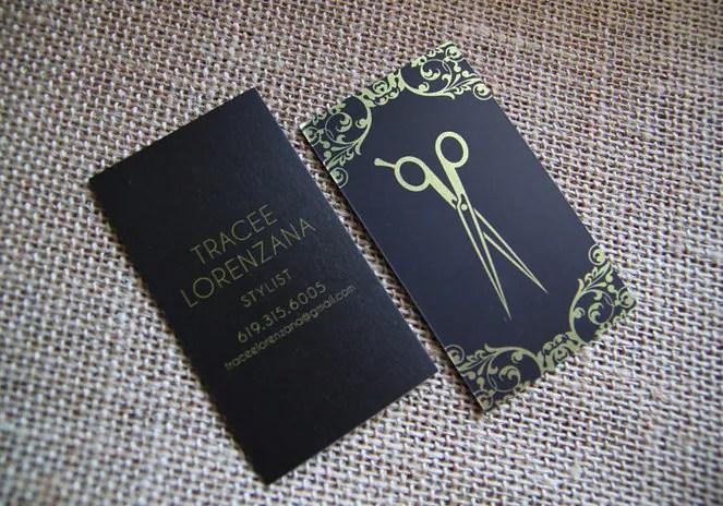Hair Dresser Business Cards