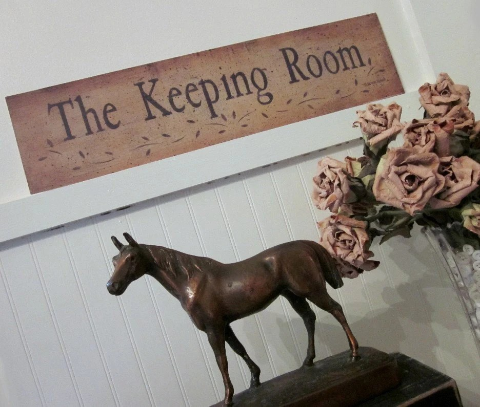 The Keeping Room Rustic Folk Art Print by Donna Atkins word
