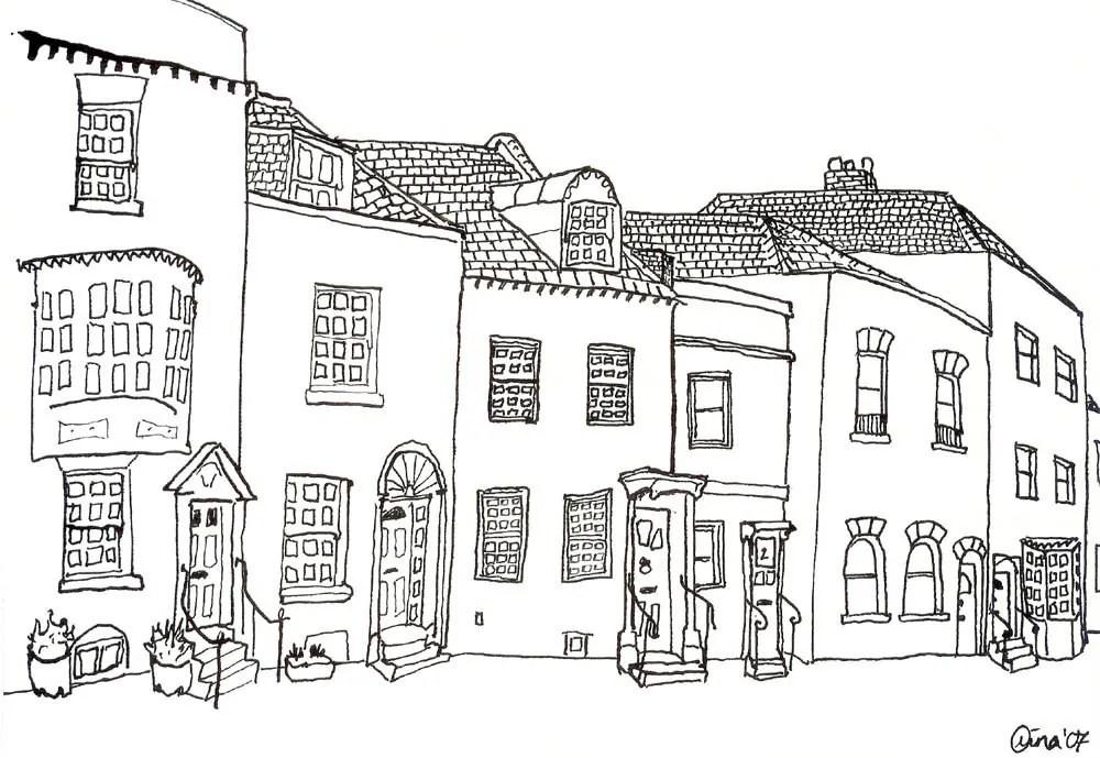 A Row of Odd Little Houses