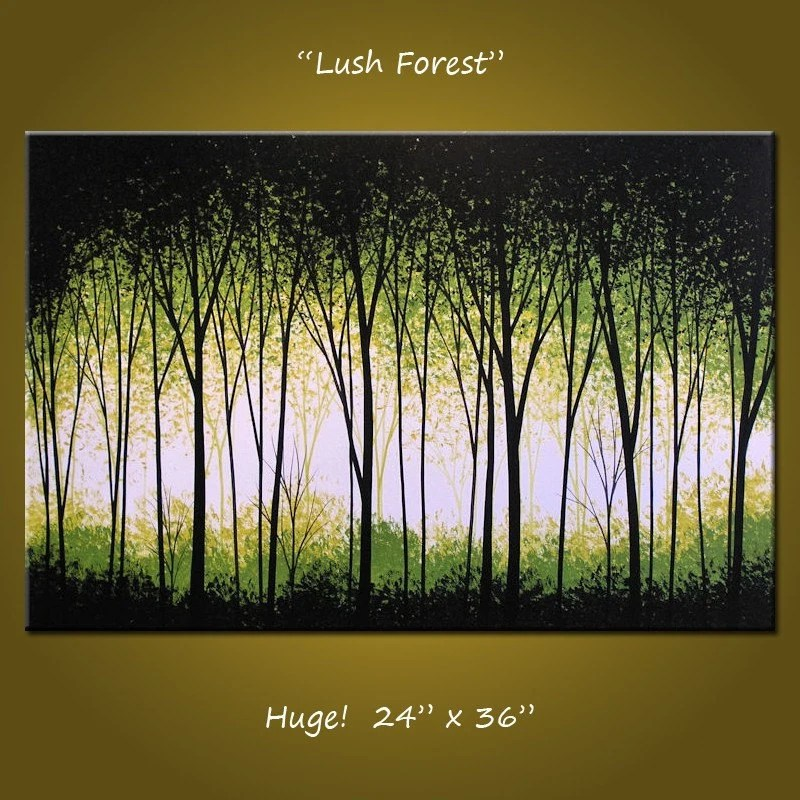 Image Result For Acrylic Painting Green Forest