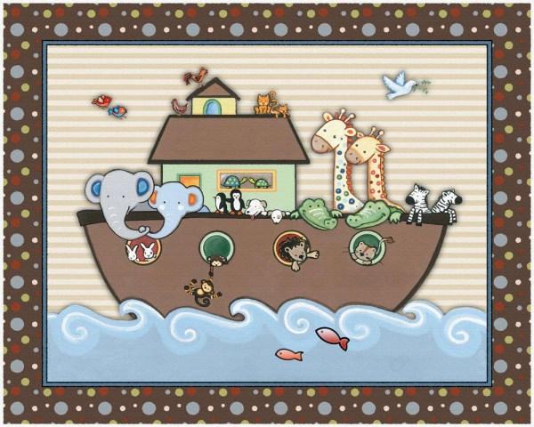 Noah' Ark Nursery Art Print. Match