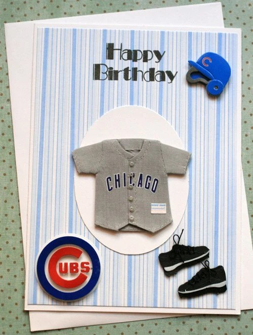 Chicago Cubs Birthday Greeting Card