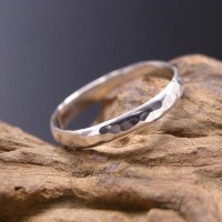 Sterling Silver Thumb Ring Hammered. Silver band ring. Made