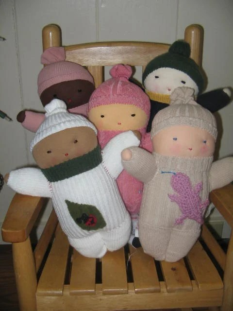 Custom Multicultural Sock Baby Doll Set Made to by dmollison